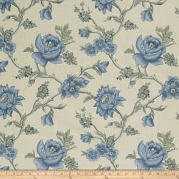 French General Bouton De Rose Bleu Fabric