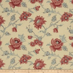 French General Bouton De Rose Rouge Fabric
