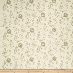 French General Emile Embroidered Linen Bisque Fabric