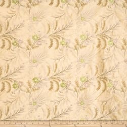 Barry Dixon De Mer Embroidered Taffeta Peridot Fabric