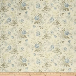 French General Florette Linen La Mer Fabric