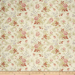 French General Florette Linen Rouge Fabric