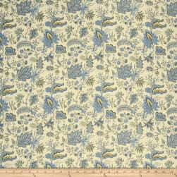 French General Josephine Linen Bleu Fabric