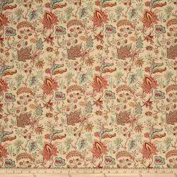 French General Josephine Linen Rouge Fabric