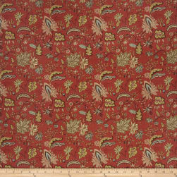 French General Josephine Linen Rural Red Fabric