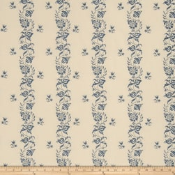 French General Maison Gabrielle Jacquard Indigo Fabric