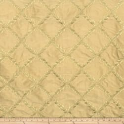 Lillian August Maypole Embroidered Taffeta Palm Fabric
