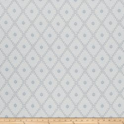 French General Paquerette Jacquard Bleu Fabric