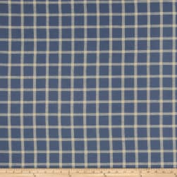 French General Septfond Linen Indigo Fabric
