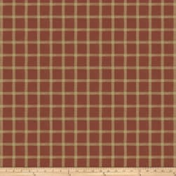 French General Septfond Linen Rural Red Fabric