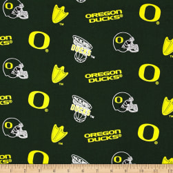 Collegiate Cotton Broadcloth University of Oregon Green Fabric