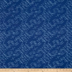 Indah Hand Dyed Batiks Painted Tossed Lines Cerulean