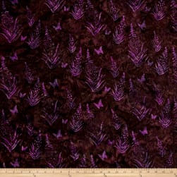 Bali Handpaint Batiks Fireweed Mulberry Fabric