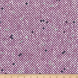 Bolt by Girl Charlee Homestead Life Jersey Knit Tiny Tweed Purple/White