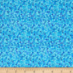 The Rainbow Fish All Over Bubbles Aqua Fabric