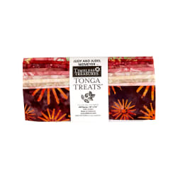 "Timeless Treasures Tonga Batik Passion Fruit 10"" Squares Half Pack"