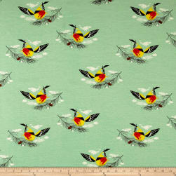 Birch Organic Charley Harper Western Birds Interlock Knit