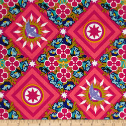 Alison Glass Seventy Six Renewal Ruby Pink Fabric