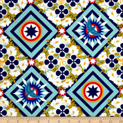 Alison Glass Seventy Six Renewal Liberty Teal Fabric