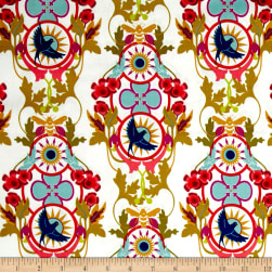 Alison Glass Seventy Six Rising Snow Cream Fabric