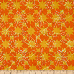 Alison Glass Seventy Six Flourish Marigold Orange Fabric