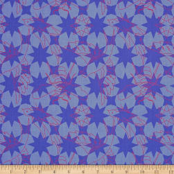 Alison Glass Seventy Six Flourish Periwinkle Purple Fabric