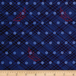 Alison Glass Seventy Six Woven Denim Blue Fabric