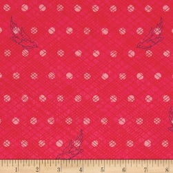 Alison Glass Seventy Six Woven Strawberry Pink Fabric