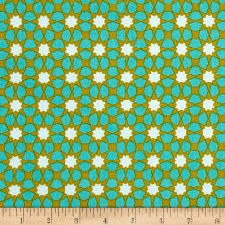 Alison Glass Seventy Six Sunshine Tiffany Teal Fabric