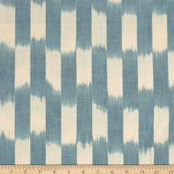 Andover Dream Weaves Ikat Patch Blue White Fabric