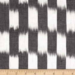 Andover Dream Weaves Ikat Patch Grey White Fabric