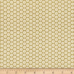 Antique Garden Daisy Green Fabric