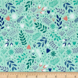 Andover Floral Splendor Neighborhood Garden Green Fabric