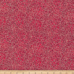 Kaufman Fusions Scroll Metallic Cardinal Fabric
