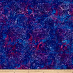 Kaufman Artisan Batiks Fancy Feathers Peacocks Violet