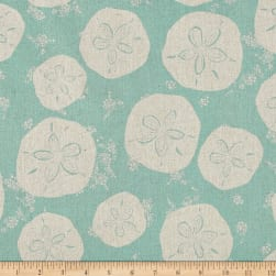 Tidal Wave Linen Blend Sand Dollars Teal