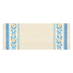 Kaufman Holiday Flourish Metallic Wide Double Border Blue