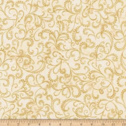 Kaufman Winter Grandeur Metallic Scroll Ivory