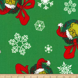 Kaufman How The Grinch Stole Christmas Wreath Green
