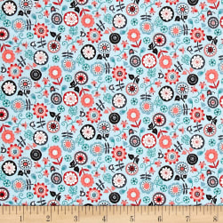 Papillon Floral Teal Fabric
