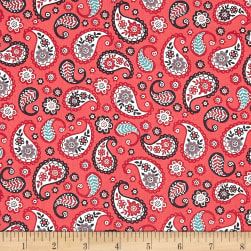 Papillon Paisley Red Fabric