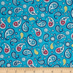 Papillon Paisley Teal Fabric