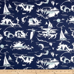 Premier Prints The Bay Vintage Indigo Fabric