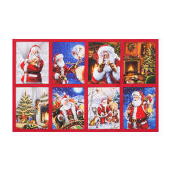 Kaufman Jolly Saint Nick Digital 23.5'' Panel Holiday Fabric