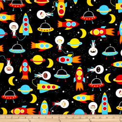 Kaufman Space Explorers Space Collage Primary Fabric