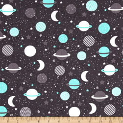 Kaufman Space Explorers Universe Mint Fabric