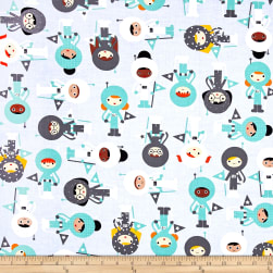 Kaufman Space Explorers Astronauts Mint Fabric