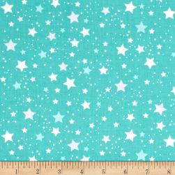 Kaufman Space Explorers Stars Mint Fabric
