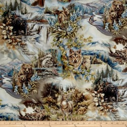 Kaufman North American Wildlife Animal Scenic Earth Fabric
