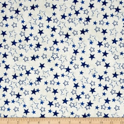 Kaufman Patriots Stars Blue Fabric